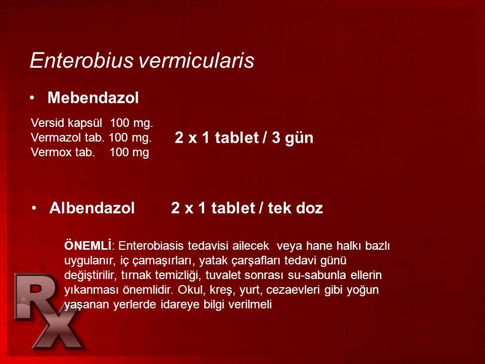 enterobiasis tedavisi